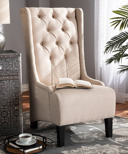 Awe Inspiring Baxton Studio Beige Dorais Upholstered Accent Chair Creativecarmelina Interior Chair Design Creativecarmelinacom
