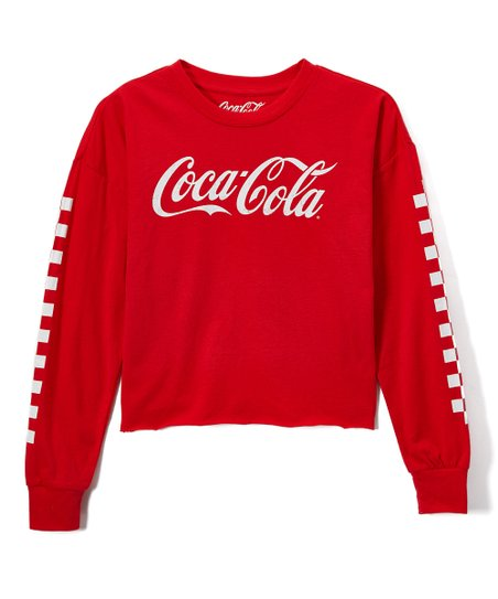 f03824abce439 love this product Coca-Cola Cropped Long-Sleeve Tee - Women