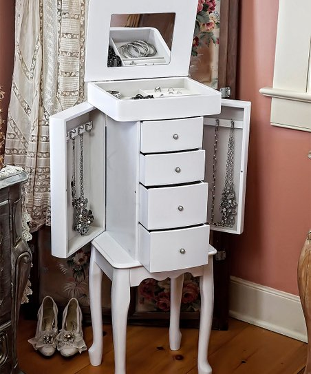 Mele Co Wooden Alexis Jewelry Armoire