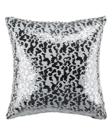 love this product White   Silver Sequin Throw Pillow 2a4ff189ec