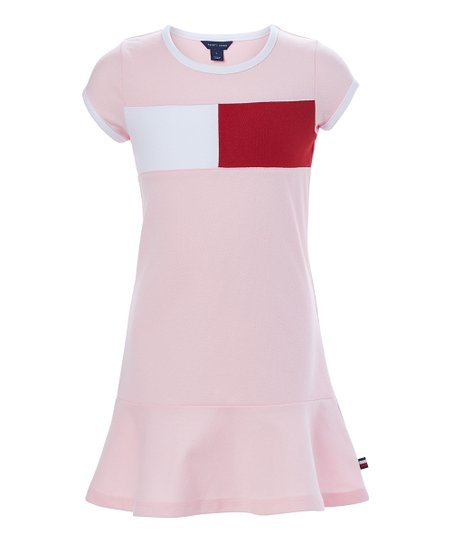 31415a528 Tommy Hilfiger Crystal Rose Pieced Flag T-Shirt Dress - Toddler ...