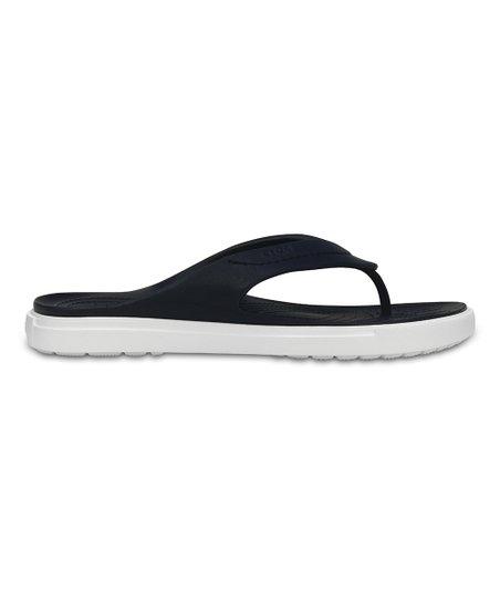 1739c9718a0f love this product Navy   White Crocs CitiLane Flip-Flops - Adult