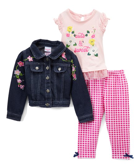 8bfd7a0e4b43 Nannette Kids Pink Cute   Sweet Floral Ruffle Jacket Set - Infant ...