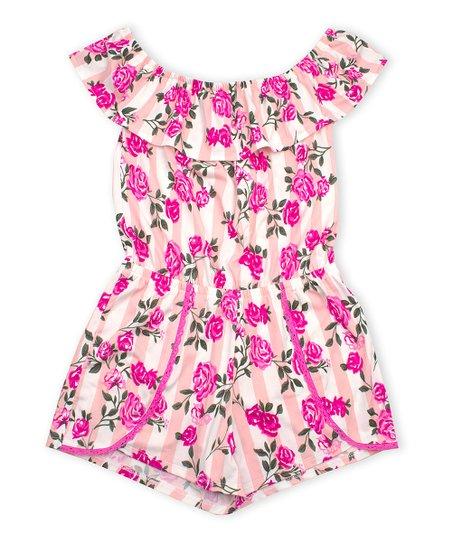 3ef677eda402 p.s. from Aéropostale Light Pink   Pink Floral Flounce Tulip-Hem ...