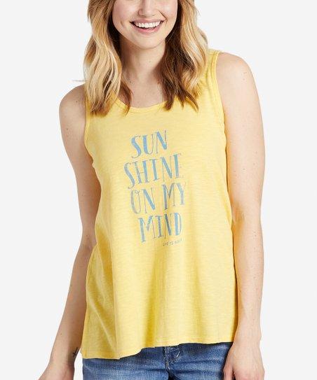 Happy Yellow Sunshine On My Mind Breezy Tank