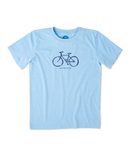 Life is Good® Carolina Blue 'Mobile Device' Bike Tee - Toddler & Boys