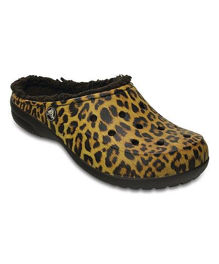 5d43035a5 Crocs Black Leopard Freesail Graphic Lined Clog - Women