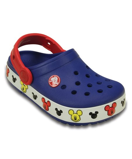 3a80a2855642 love this product Cerulean Blue   Red Crocs Kids  Light-Up Mickey Mouse Clog  - Kids