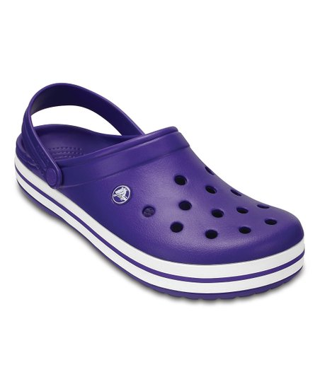 301e28eaf9b91 Crocs Ultraviolet   White Crocband™ Clog - Adult