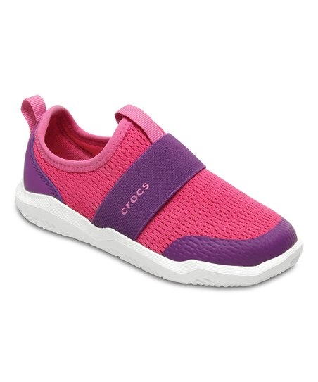 c05c9208dcc9 Crocs Candy Pink   Amethyst Swiftwater Easy-On Water Shoe - Girls ...