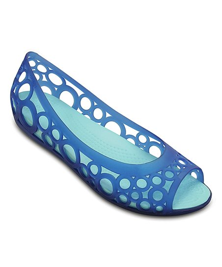 c410af6c8d02 Crocs Cerulean Blue   Ice Blue Adrina Flat - Women