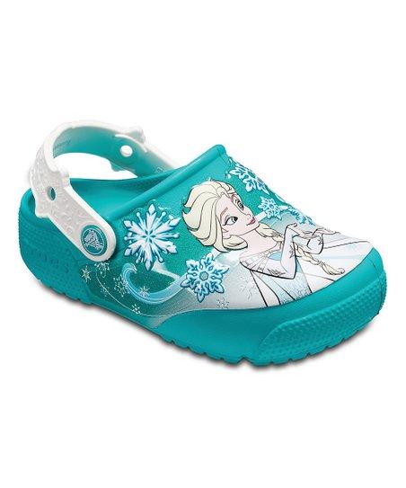 Crocs CrocsLights Frozen Fever Light-Up Clogs girls 13 Elsa /& Anna NEW