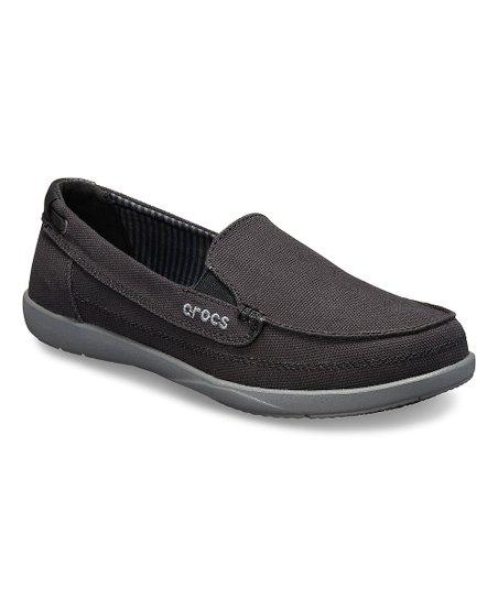 6a8714470 Crocs Black   Slate Gray Walu Canvas Loafer - Women