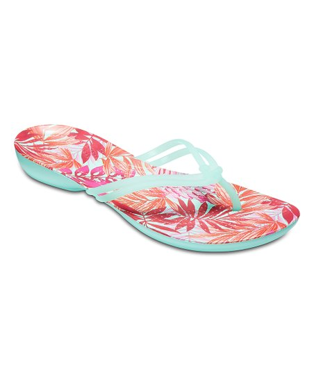 208dae0e0 love this product New Mint Tropical Isabella Graphic Flip-Flop - Women