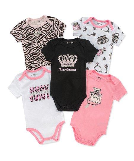 7a271b0fd353 love this product Pink & Black 'Juicy Couture' Bodysuit Set - Infant
