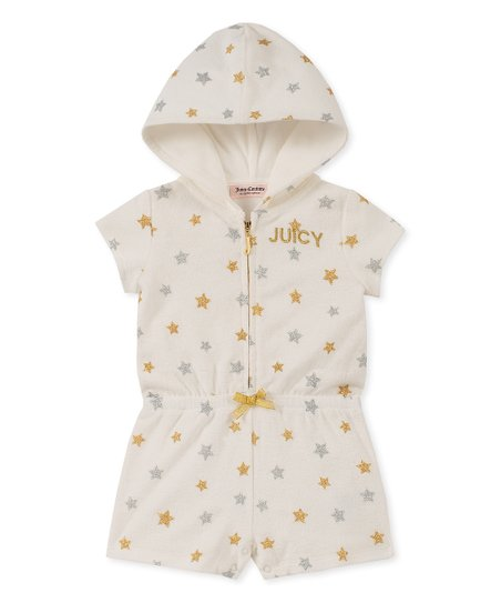 48095cbdd922 love this product Gold Starry Hooded Zip-Up Romper - Toddler