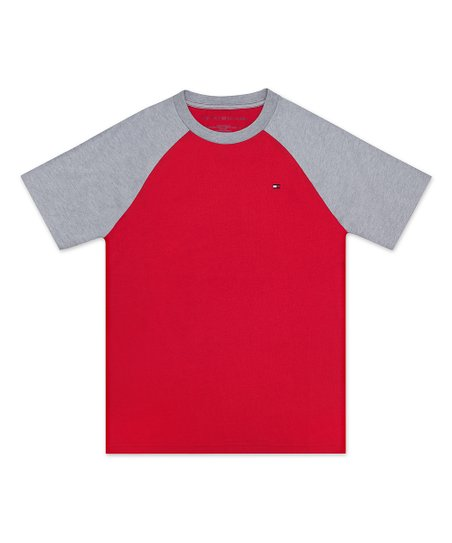 88917ed7 Tommy Hilfiger Red Raglan Short-Sleeve Tee - Toddler & Boys | Zulily