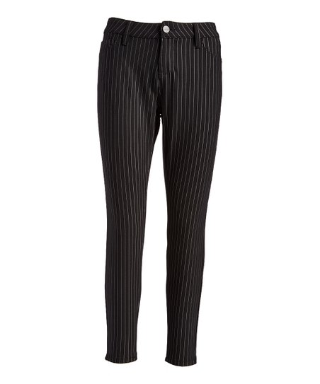 6a996ef5ff09 Royalty For Me Black Pinstripe Modern Royalty Skinny Pants - Women ...