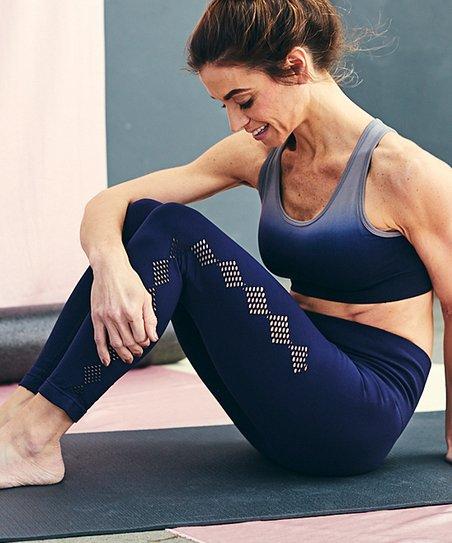 26464f4695 love this product Navy Scallop Tummy Control High-Waist Leggings - Women &  Plus