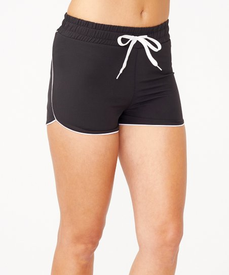 34bbe6289 S2 Sportswear Black & White Running Shorts - Women | Zulily