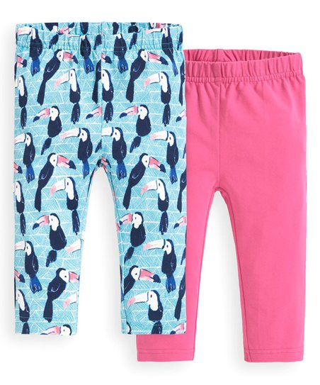 90253bf3eeeaf love this product Duck Egg & Pink Toucan Cropped Leggings Set - Infant,  Toddler & Girls