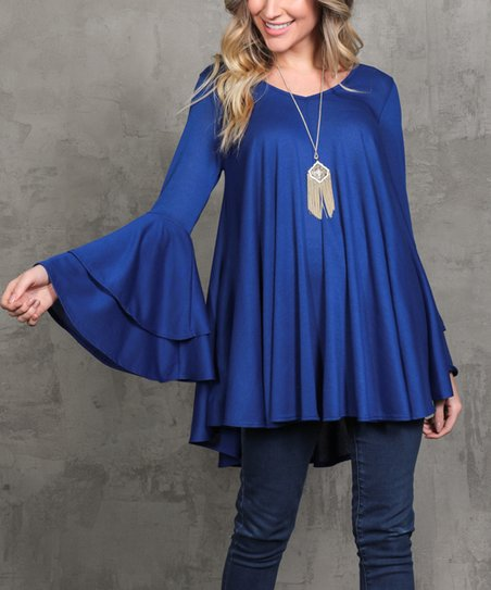 Royal Bell Sleeve Swing Tunic   Women &Amp; Plus by Milly Penzance