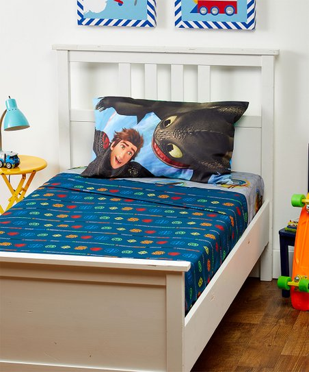 Franco Manufacturing How To Train Your Dragon 3 Fly Twin Sheet Set