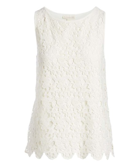 ccf86c7aa90a3 love this product Vanilla Floral Lace Sleeveless Top - Women