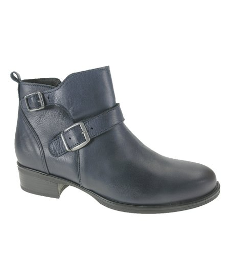 love this product Navy Blue Buckle-Accent Ankle Boot - Women 7dd3679b6