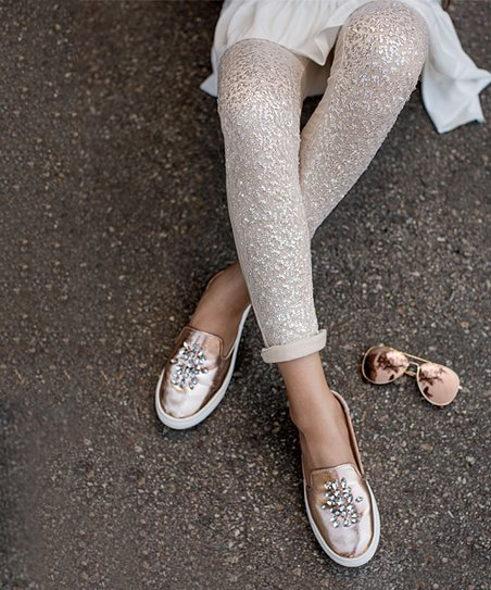 87fe4a7d2543e Joyfolie Champagne Sparkle Juno Leggings - Girls | Zulily