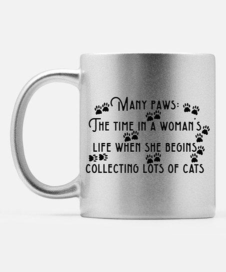 Hey Shabby Me Silver Sparkle 'Many Paws' Definition Mug