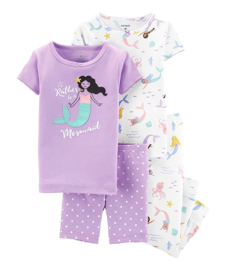 love this product Purple   White  I d Rather be a Mermaid  Pajama Set -  Toddler   Girls ab3251889