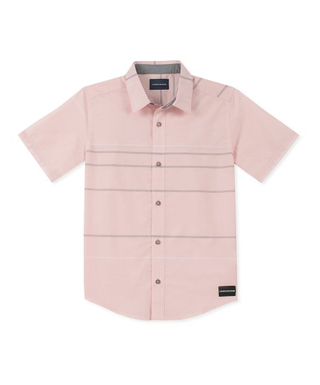 0a34777ae50d Calvin Klein Jeans Light Pink CK Throwback Button-Up Shirt - Boys ...