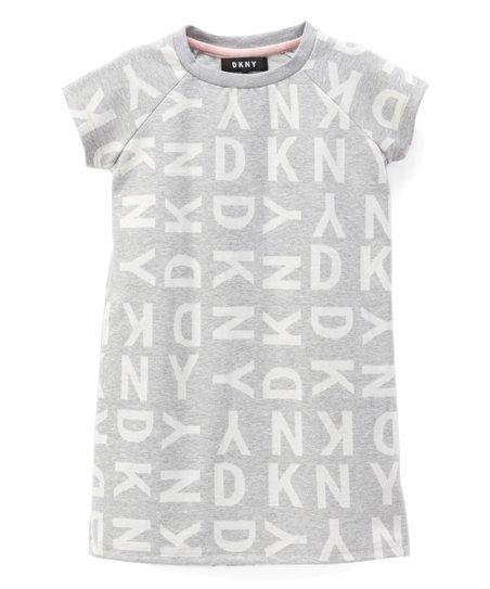 2a7a74b837c love this product Medium Heather Gray Jacquard  DKNY  Logo T-Shirt Dress -  Toddler   Girls