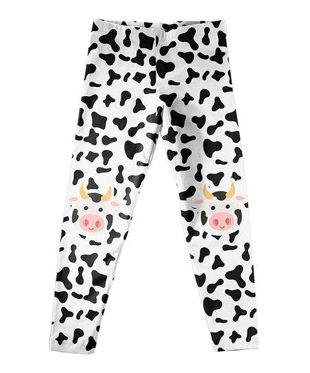 763ef67efaf998 love this product Black Cow Print Leggings - Infant, Toddler & Girls