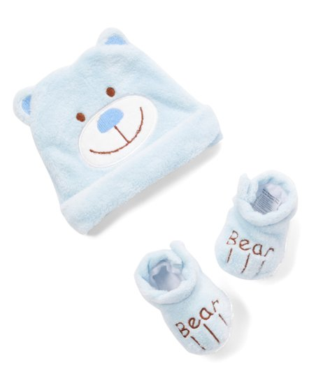a308610f37e love this product Blue Bear Hat   Booties - Newborn