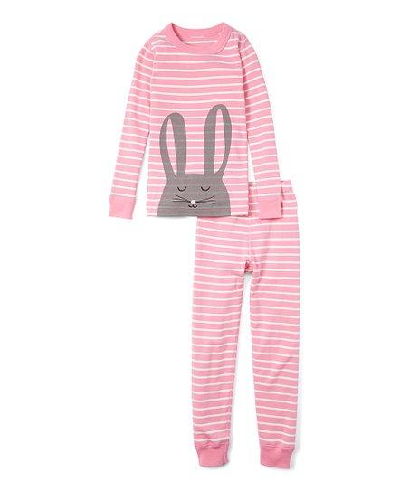 cc545e94bd love this product Fresh Pink Bunny Organic Cotton Long John Pajama Set -  Girls