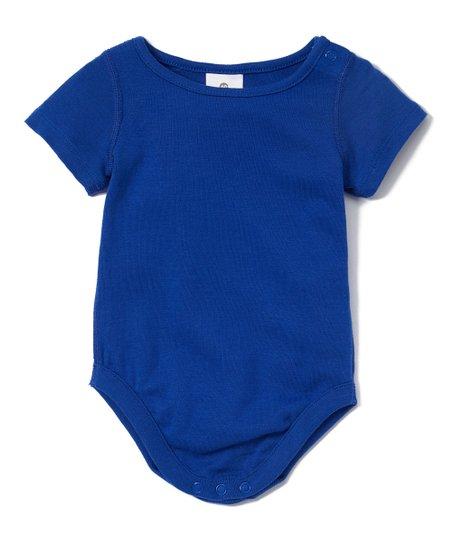11c7c522dbcd Hanna Andersson Baltic Blue Baby Basics Organic Cotton Bodysuit ...