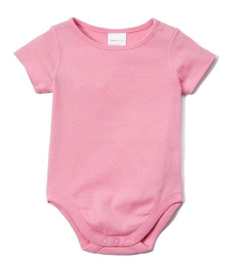 fb56a3ca0571 Hanna Andersson Fresh Pink Baby Basics Organic Cotton Bodysuit ...
