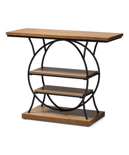 Enjoyable Baxton Studio Walnut Brown Industrial Circular Lavelle Console Table Spiritservingveterans Wood Chair Design Ideas Spiritservingveteransorg