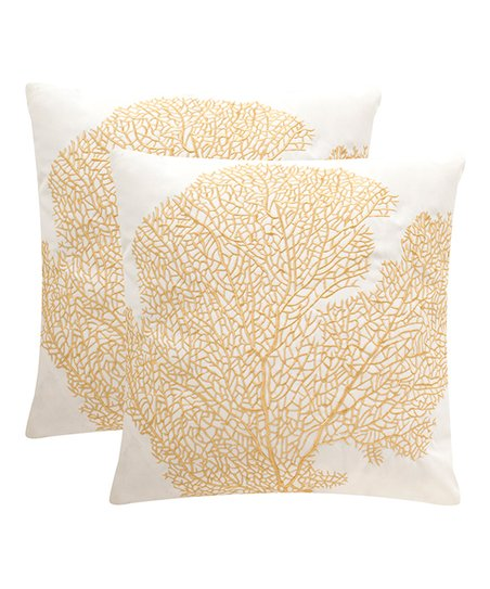 Safavieh Gold Indoor Outdoor Throw Pillow Set Of Two Zulily