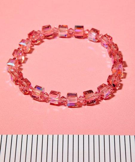 Tazza Pink Stretch Bracelet With Swarovski Crystals Zulily