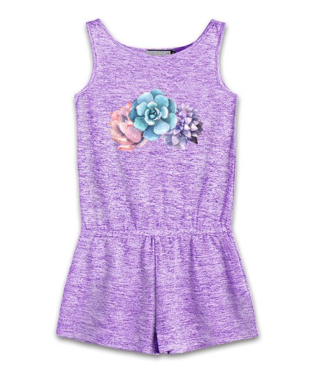 67f76cf013a8 love this product Purple Floral Romper - Toddler   Girls