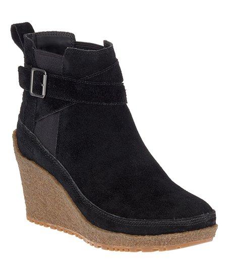 b541646ebd3 Merrell Black Tremblant Suede Wedge Boot - Women