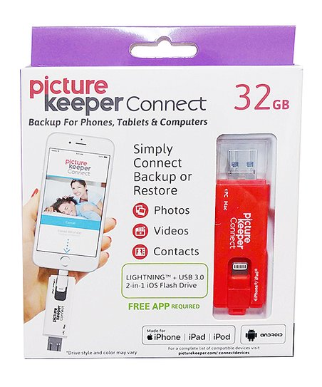 Picture Keeper Red Picture Keeper Connect 32-GB Mobile Backup for iPhone