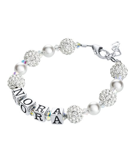 7db01c4372506 Sterling Silver Personalized Bracelet with Swarovski® Crystals