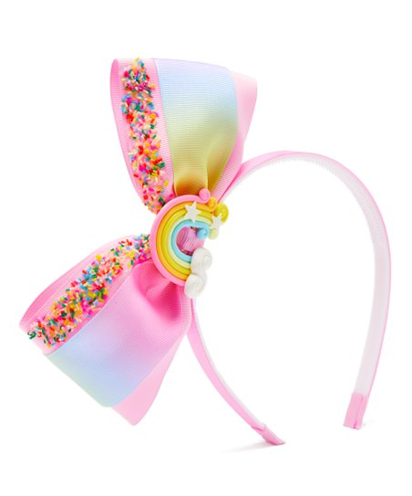 love this product Pink   Blue Sprinkle Bow Headband 3fd038f85b2