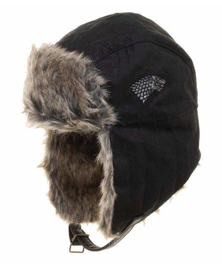 84c7ebbb3d6 Bioworld Game of Thrones Black Stark Crest Trapper Hat