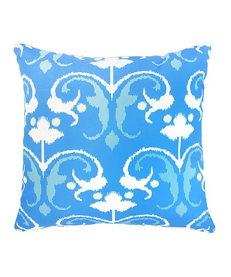 Divine Home Blue White Ikat Outdoor Throw Pillow Zulily