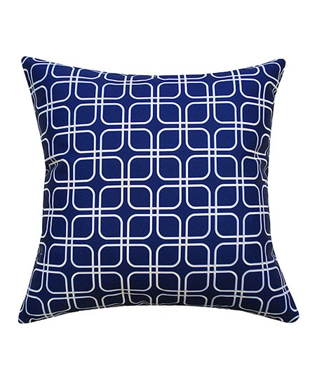 Divine Home Blue White Geometric Outdoor Throw Pillow Zulily